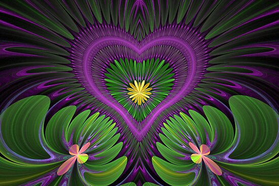 Flowering Heart by Sandy Keeton