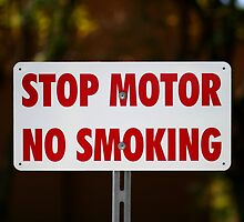 Stop Motor No Smoking by Henrik Lehnerer