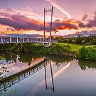 """Sunset Bridge"" by Bradley Shawn  Rabon"