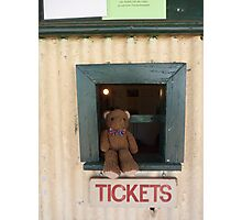 Where to? Ted ,the new ticket officer  Photographic Print