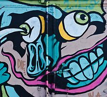 Poke in the Eye with a Grin Graffiti by yurix