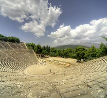 Epidavros Amphitheatre by Rob Hawkins