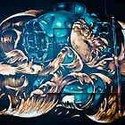 Fish and Batiscaf Graffiti  by yurix