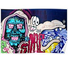 Welcome to Jolly Hallucinogenic 1969. Skull and others Graffiti  Poster
