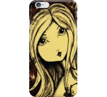 Saschia Sparkleberry - Sepia iPhone Case/Skin