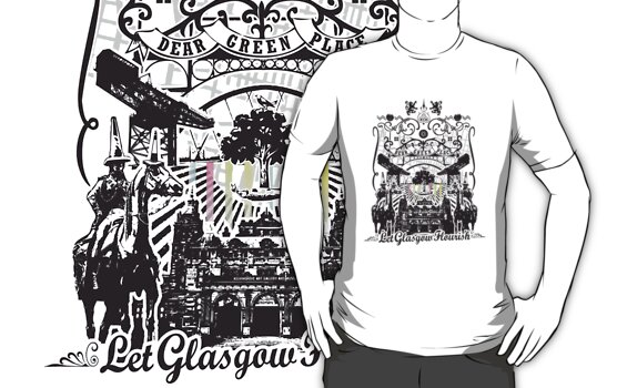 Glasgow T-Shirt design by MFSdesigns