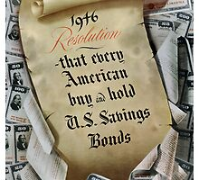 1946 Resolution - That every American buy and hold U.S. savings bonds by warishellstore