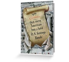 1946 Resolution - That every American buy and hold U.S. savings bonds Greeting Card
