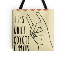 Quiet Coyote Tote Bag
