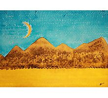Mojave Moonrise original painting Photographic Print