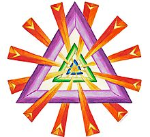 Sacred Geometry - Full-Color Print by TheMandalaLady