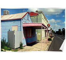The coloured Shop on an outback Road ~ Australia Poster