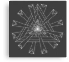 Sacred Geometry - White on Dk Grey Print Canvas Print