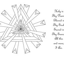 Sacred Geometry - Color Your Own Card w/Message by TheMandalaLady