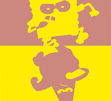 SpongeBob & Patrick two color by Mixposters