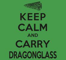 Keep Calm: Dragonglass (Black) Kids Clothes