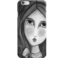 iphone Cover Penelope Lili Bow Black & White iPhone Case/Skin
