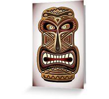 Africa Ethnic Mask Totem Greeting Card