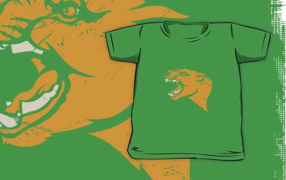Thylacoleo stencil t-shirt by Richard Morden