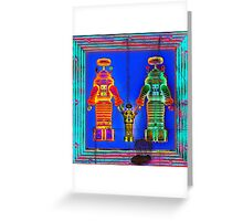 Robot Family 1 Greeting Card