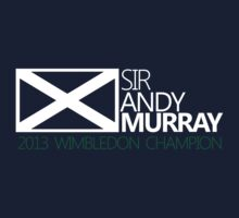 Sir Andy Murray Wimbledon Champion T-shirt by Flyinglap