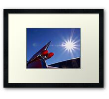 Red Cadillac Fin and Solar Flare Framed Print