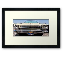 Cadillac Grill Framed Print