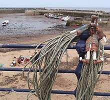 Having a lark in Staithes by Marion Throup