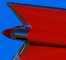 Red Cadillac Fin II by wayneyoungphoto