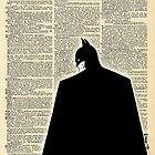 Dictionary Art Batman by House Of Wonderland