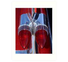 Red Cadillac Tail Lights Art Print