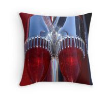 Red Cadillac Tail Lights Throw Pillow