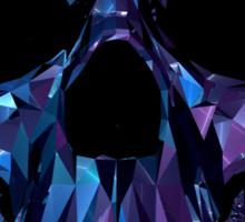 Polygon Skull - Blue / Purple Sticker