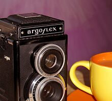 Argus Argoflex E and Coffee by wayneyoungphoto