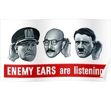 Enemy Ears Are Listening -- WWII Poster