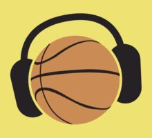 Basketball with musical headphones by jazzydevil