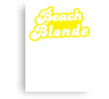 Beach blonde in yellow Canvas Print