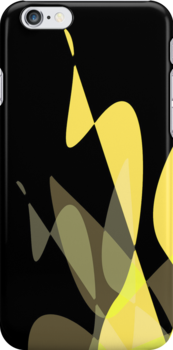 Yellow & Black Graphic iPhone/iPod & iPad by GJPart