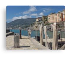 FISHING NETS... MARE LIGURIA - ITALIA - EUROPA -VETRINA RB EXPLORE 19 LUGLIO 2013 - Canvas Print