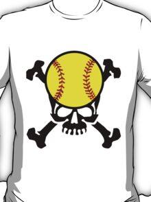 Softball Skull T-Shirt