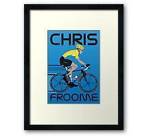 Chris Froome Yellow Jersey Framed Print