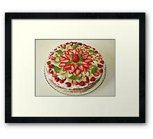 cake strawberry Framed Print