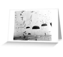Airborne Mission During WW2 Painting Greeting Card