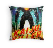 Kaiju Killer Throw Pillow
