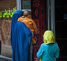 Beggar Lady in Kabul by David R. Anderson