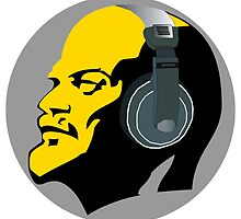 Lenin with Headphones by GayRiot