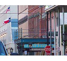 The Historic Strand Street, Galveston island Photographic Print