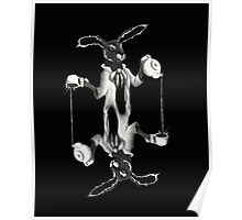 March Hare Card Design Poster