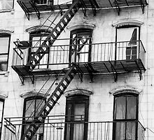 Chinatown Fire Escape  by Timothy Borkowski