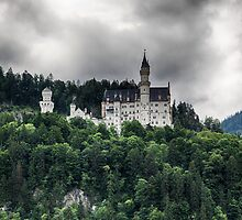 Neuschwanstein Under A Stormy Sky by Nigel Jones
